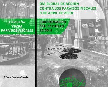 Concentración contra los paraísos fiscales @ Pza. Callao | Madrid | Comunidad de Madrid | España