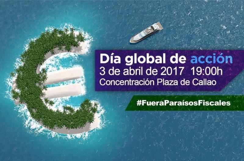 Concentración contra los paraísos fiscales @ Callao | Madrid | Comunidad de Madrid | España
