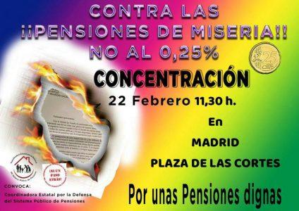 Concentración por unas pensiones dignas @ Plaza de Las Cortes | Madrid | Comunidad de Madrid | España