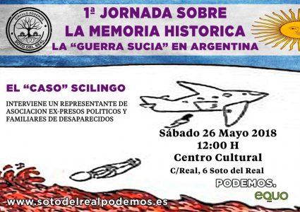 1ª Jornada sobre la Memoria Histórica. La 'guerra sucia' en Argentina @ Centro Cultural de Soto del Real | Soto del Real | Comunidad de Madrid | España