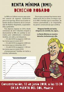 Concentración por la Renta Mínima @ Puerta del Sol | Madrid | Comunidad de Madrid | España