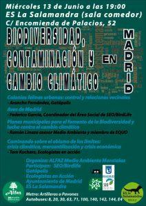 Biodiversidad, contaminación y cambio climático en Madrid @ ES La Salamandra (Sala Comedor) | Madrid | Comunidad de Madrid | España
