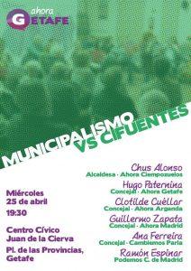 Municipalismo vs Cifuentes @ Centro Cívico Juan de la Cierva, Getafe | Getafe | Comunidad de Madrid | España