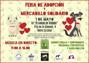 Feria de Adopción y mercadillo solidario @ El Campo de Cebada | Madrid | Comunidad de Madrid | España