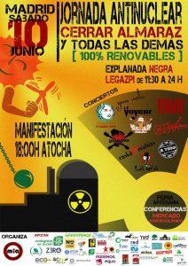 """Manifestación antinuclear """"Cerrar Almaraz y todas las demás"""" @ De Atocha a Legazpi   Madrid   Comunidad de Madrid   España"""
