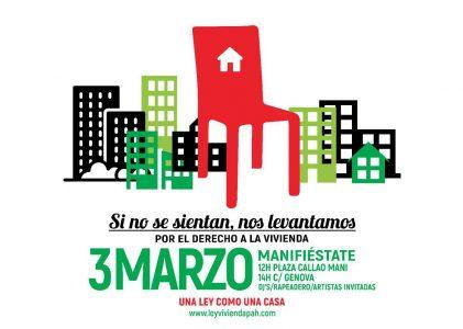 Manifestación por el derecho a la vivienda @ Callao | Madrid | Comunidad de Madrid | España