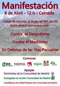 Manifestación en apoyo de los concejales de BCM en Común Florentina Carrasco y José Ángel Guerrero