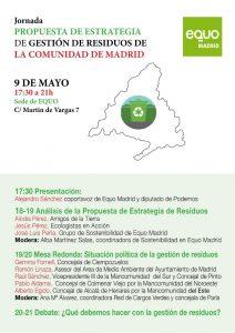 Jornada 'Propuesta Estrategia de Residuos de la Comunidad de Madrid' @ Sede EQUO | Madrid | Comunidad de Madrid | España