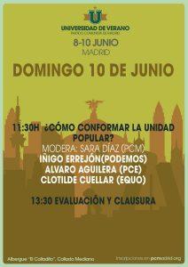¿Cómo conformar la Unidad Popular? @ Albergue 'El Colladito' | Collado Mediano | Comunidad de Madrid | España