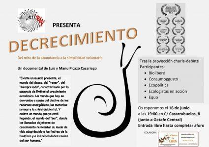 Documental: 'Decrecimiento. Del mito de la abundancia a la simplicidad voluntaria' @ La Danza de Lilith | Getafe | Comunidad de Madrid | España