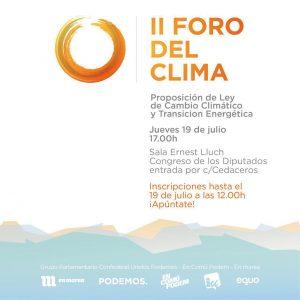 II Foro del Clima @ Congreso de los Diputados, Sala Ernest Lluch | Madrid | Comunidad de Madrid | España