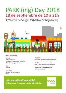 Parking Day @ Sede EQUO Madrid | Madrid | Comunidad de Madrid | España