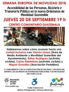 Cómo avanzar hacia una movilidad inclusiva @ Centro Comunitario Guatemala | Madrid | Comunidad de Madrid | España