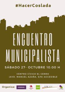Encuentro municipalista en Coslada @ Centro Cívico El Cerro | Comunidad de Madrid | España