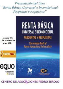 Presentación del libro 'Renta básica universal e incondicional' @ Centro de Asociaciones Pedro Zerolo de Valdemoro | Valdemoro | Comunidad de Madrid | España