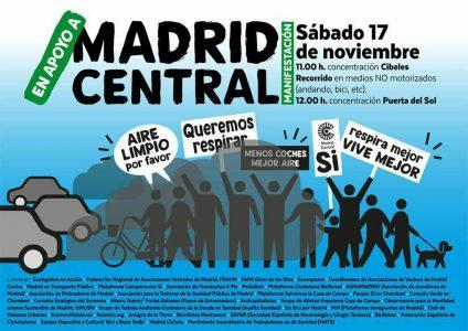 Manifestación en apoyo a Madrid Central @ De Cibeles a la Puerta del Sol | Madrid | Comunidad de Madrid | España