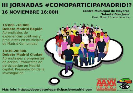III Jornadas #COMOPARTICIPAMADRID!? @ Centro Municipal de Mayores Infante Don Juan | Madrid | Comunidad de Madrid | España