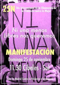 Manifestación 25N @ Plaza de Cibeles | Madrid | Comunidad de Madrid | España