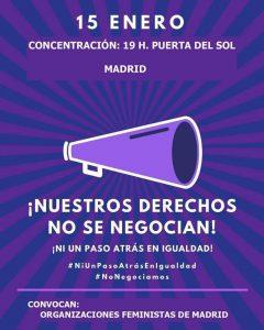 Concentración ¡Ni un paso atrás en igualdad! @ Puerta del Sol  | Madrid | Comunidad de Madrid | España