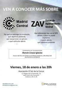 Ven a conocer más sobre Madrid Central @ Asociación El Sol de la Conce | Madrid | Comunidad de Madrid | España