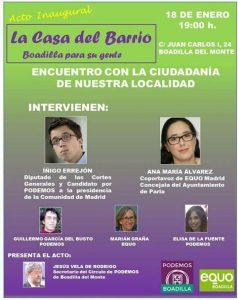 Acto inaugural del espacio 'La Casa del Barrio' en Boadilla @ La casa del Barrio, Boadilla | Boadilla del Monte | Comunidad de Madrid | España