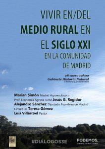 Vivir en/del medio rural en el siglo XXI en la Comunidad de Madrid @ Gabinete de Historia Natural | Madrid | Comunidad de Madrid | España