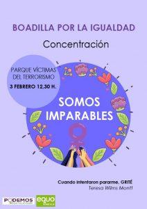 Concentración 'Boadilla por la igualdad' @ Parque Víctimas del terrorismo, Boadilla del Monte | Boadilla del Monte | Comunidad de Madrid | España