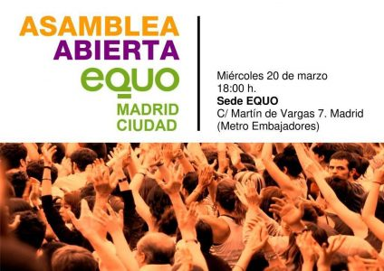 Asamblea Madrid Ciudad @ Sede EQUO