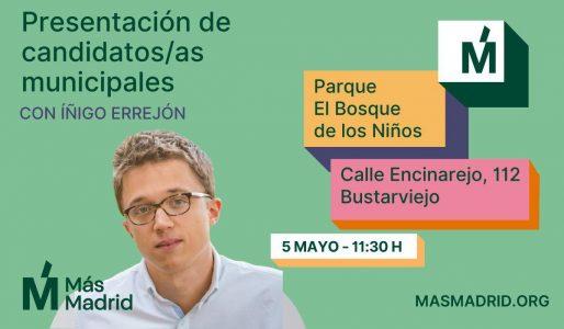 Presentación de candidatas a las municipales de Más Madrid @ Parque El Bosque de los niños