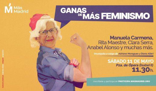 Acto Feminista de Más Madrid @ Plaza de Ópera