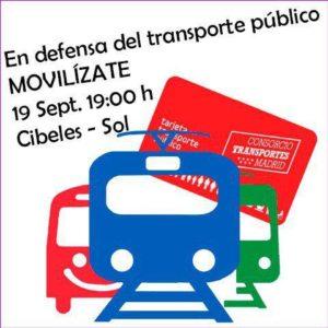 Movilización en defensa del Transporte Público @ De Cibeles a Sol