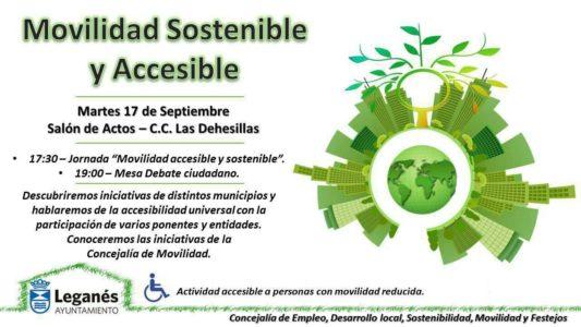 Jornada 'Movilidad sostenible y accesible' en Leganés @ Salón de Actos C.C. Las Dehesillas