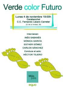 'Verde color Futuro'. Acto de campaña @ C.C. Fernando Lázaro Carreter (Carabanchel)