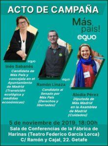 Acto de campaña. Getafe @ Sala de conferencias de la Fabrica de harinas (Teatro Federico García Lorca)