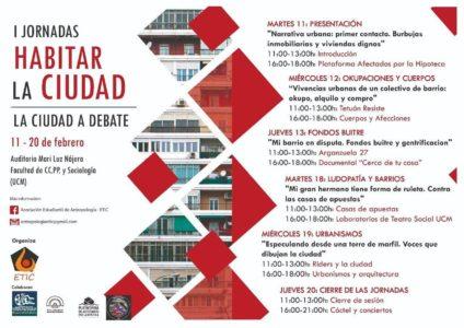 I Jornadas 'Habitar la ciudad' @ Auditorio Mari Luz Nájera