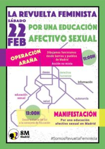La Revuelta feminista por una educación afectivo sexual @ Desde Puerta del Sol a la Consejería de Educación