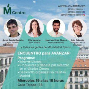 Encuentro para avanzar, Más Madrid Centro @ Sede Más Madrid