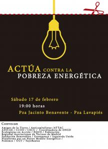 Manifestación - pasacalles contra la pobreza energética @ Pza. Jacinto Benavente | Madrid | Comunidad de Madrid | España