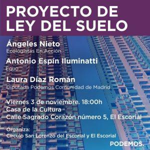 El Escorial - Acto sobre el proyecto de Ley del Suelo @ Casa de la Cultura | El Escorial | Comunidad de Madrid | España