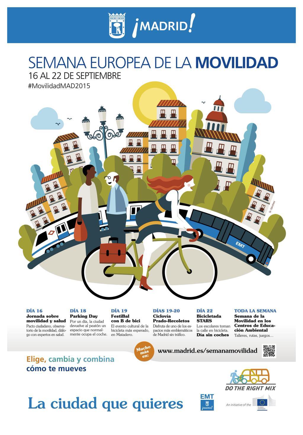 cartel semana de la movilidad 2015 Madrid