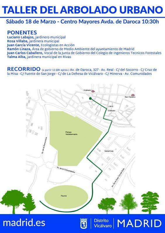 Vicálvaro - Taller de arbolado urbano @ Centro de Mayores Av. Daroca | Madrid | Comunidad de Madrid | España