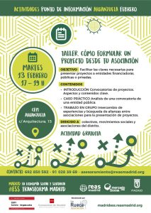 Taller de presentación de proyectos para asociaciones @ CEPI Arganzuela | Madrid | Comunidad de Madrid | España