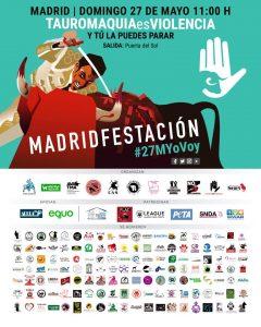 Manifestación 'Tauromaquia es violencia' @ Puerta del Sol | Madrid | Comunidad de Madrid | España