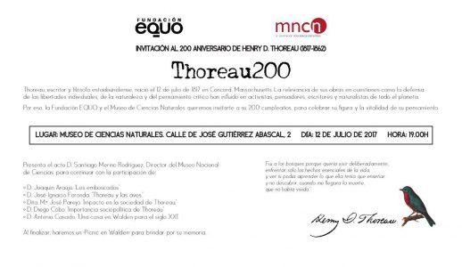 Fundación EQUO - Acto 200º aniversario Thoreau @ Museo de Ciencias Naturales | Madrid | Comunidad de Madrid | España