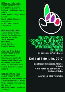 Villalba - Universidad Socioambiental de la Sierra de Guadarrama @ Espacio Abierto | Collado Villalba | Comunidad de Madrid | España