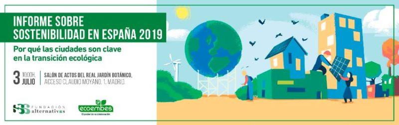 Presentación del Informe sobre sostenibilidad en España 2019 @ Real Jardín Botánico (salón de actos)