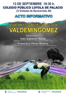 Situación y futuro del complejo de Valdemingómez @ Colegio Público Loyola de Palacio | Madrid | Comunidad de Madrid | España